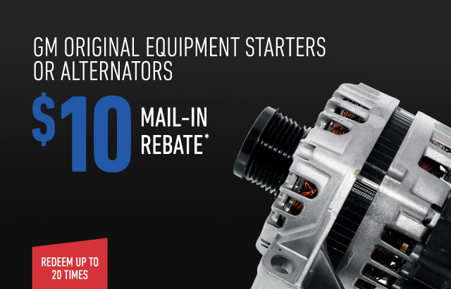 Mail In Rebate Offers >> Gm Parts Offers And Rebates Professionals Gm Genuine Parts