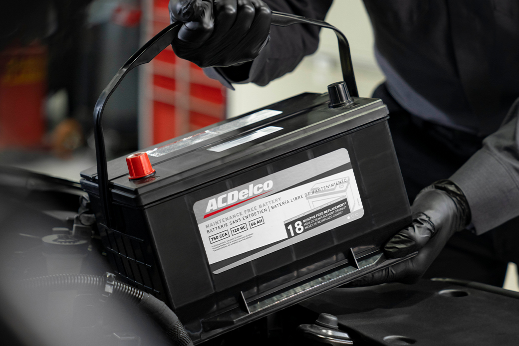 ACDelco Silver Line Battery Being Installed in Vehicle