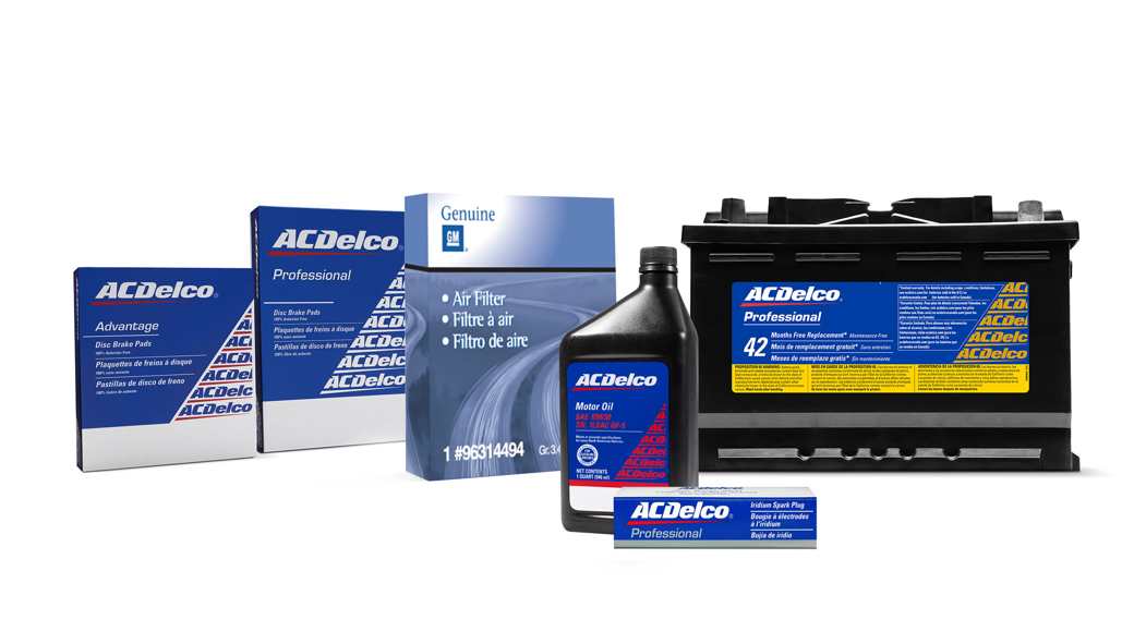 GM Genuine Parts & ACDelco Original Parts Packaging