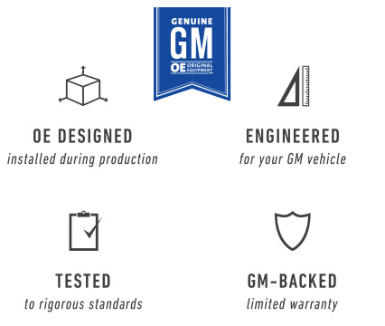 GM Genuine OE Parts Benefits - OE Designed,Engineered & Tested
